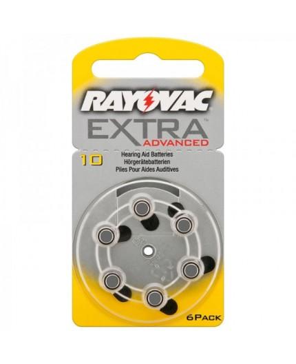 Baterie RAYOVAC R10AE   10AE do naslouchadla - blistr 6ks