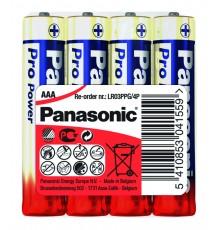 Baterie Panasonic Pro Power AAA, R03, LR03, mikrotužková, alkalická, fólie