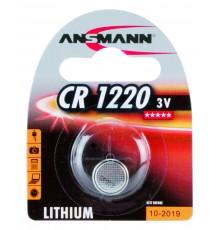 Baterie Ansmann CR1220, 3V, knoflíková, lithiová, 1ks blistr