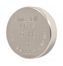 Baterie LR43 Maxell, 386, AG12, AG 12, knoflíková - oxid stříbra - blistr