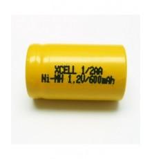 Akumulátor - baterie 1/2 AA - 1.2V/600mAh - NiMh | XCE-1/2AA600