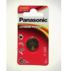 Baterie Panasonic CR2025 - 3V - knoflíková - lithiová - 1ks blistr