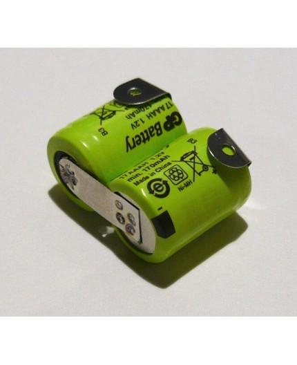 Složená baterie s pájecími vývody 1/3 AAA - 2.4V/170mAh - GP17AAAH