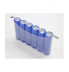Složená baterie s pájecími vývody - velikost AA - 7.2V/1600mAh | XCE-AA1600