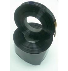 Smršťovací fólie 70.0 - 44.0mm - pásek - černá barva