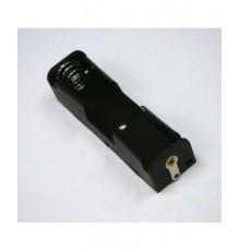 Pouzdro baterie R6 x 1 - pájecí očka