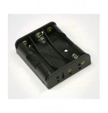 Pouzdro baterie R6 x 3 - vedle sebe