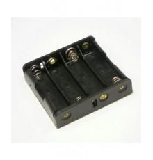 Pouzdro baterie R6 x 4 - vedle sebe