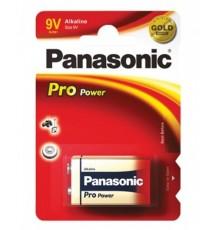 Baterie Panasonic Pro Power 9V - 6LR61 - 6F22 - 6LF22 - 1604 - alkalická - 1ks blistr