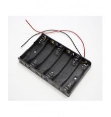 Pouzdro baterie R6 x 6 - vedle sebe