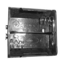 Pouzdro baterie R20 x 2 - vedle sebe