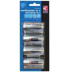 Pouzdro baterie adaptér R6 na R20 - tužka / velké mono
