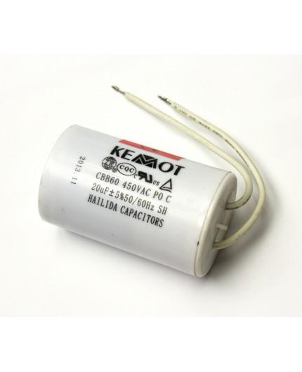 Rozběhový motorový kondenzátor 20uF - 450V