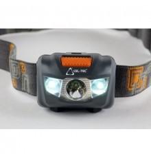 Svítilna čelová 3W LED CREE + 2 LED - CEL-TEC HL125 - čelovka se 4 režimy svícení - 3 x AAA