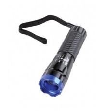 Svítilna 1W LED - URZ0027 - FOKUS - hliníková 3 x AAA