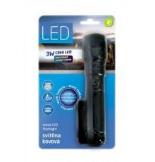 Svítilna 3W LED CREE - ST7382DCR-3W - FOKUS - hliníková - 3 x AAA
