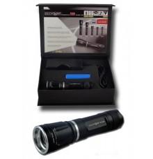 Svítilna 3W LED CREE Q5 - PL22A - hliníková - fokus - 1 x Li-ion - dárková krabice
