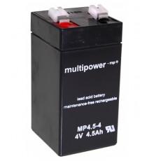 Olověná baterie - bezúdržbový akumulátor 4V - 4.5Ah - Multipower - MP4.5-4